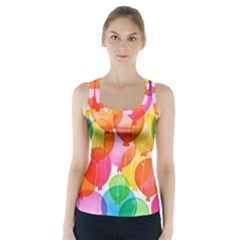 Rainbow Balloon Racer Back Sports Top by Brittlevirginclothing