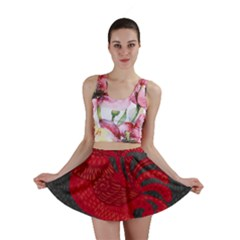 Red Fire Chicken Year Mini Skirt
