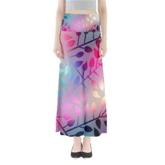Colorful Leaves Maxi Skirts by Brittlevirginclothing