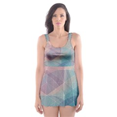 Colorful Light Skater Dress Swimsuit by Brittlevirginclothing