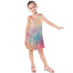 Colorful Light Kids  Sleeveless Dress by Brittlevirginclothing
