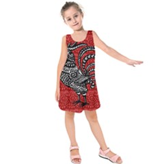 Year Of The Rooster Kids  Sleeveless Dress by Valentinaart