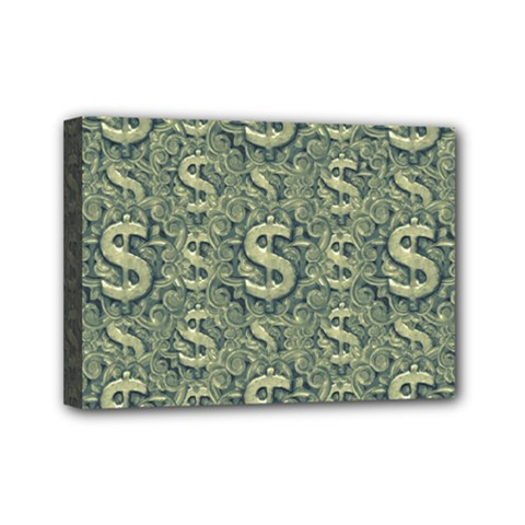 Money Symbol Ornament Mini Canvas 7  X 5