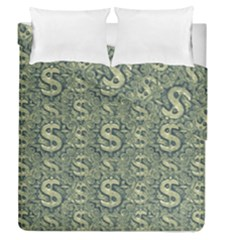 Money Symbol Ornament Duvet Cover Double Side (queen Size)