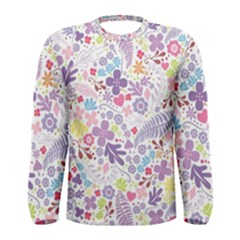 Colorful Flower Men s Long Sleeve Tee by Brittlevirginclothing