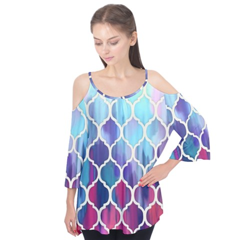 Purple Moroccan Mosaic Flutter Tees by Brittlevirginclothing