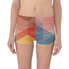 Colorful Warm Colored Quares Boyleg Bikini Bottoms by Brittlevirginclothing