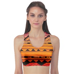 Warm Tribal Sports Bra by Brittlevirginclothing