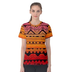 Warm Tribal Women s Cotton Tee by Brittlevirginclothing