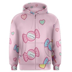 Cute Candy Men s Zipper Hoodie by Brittlevirginclothing