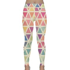 Colorful Triangle Classic Yoga Leggings by Brittlevirginclothing