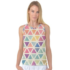 Colorful Triangle Women s Basketball Tank Top by Brittlevirginclothing