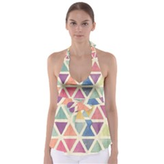 Colorful Triangle Babydoll Tankini Top by Brittlevirginclothing