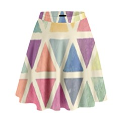 Colorful Triangle High Waist Skirt by Brittlevirginclothing