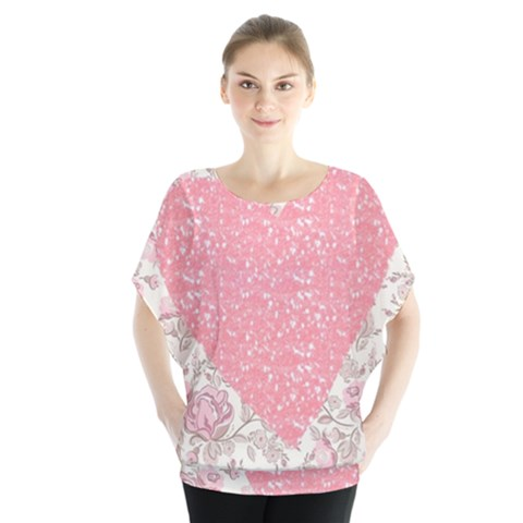 Cute Pink Heart Blouse by Brittlevirginclothing
