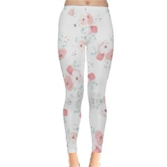 Lovely Flowers Classic Winter Leggings by Brittlevirginclothing