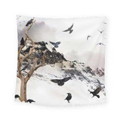 Birds Crows Black Ravens Wing Square Tapestry (small)