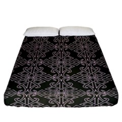 Line Geometry Pattern Geometric Fitted Sheet (california King Size) by Amaryn4rt