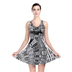 Semi Circles Abstract Geometric Modern Art Reversible Skater Dress by CrypticFragmentsDesign