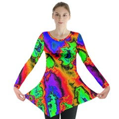 Hot Fractal Statement Long Sleeve Tunic