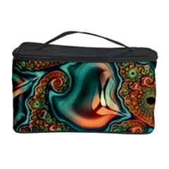 Painted Fractal Cosmetic Storage Case