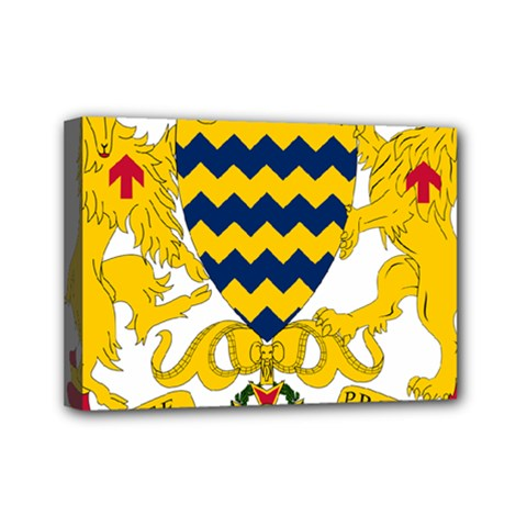 Coat Of Arms Of Chad Mini Canvas 7  X 5  by abbeyz71