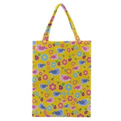 Spring Pattern   Yellow Classic Tote Bag by Valentinaart