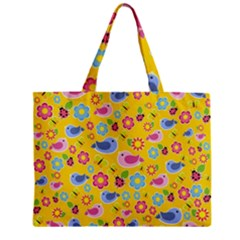 Spring Pattern - Yellow Zipper Mini Tote Bag by Valentinaart