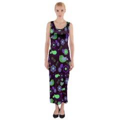 Spring Night Fitted Maxi Dress by Valentinaart