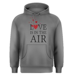 Grey Love Is In The Air  Men s Pullover Hoodie by FunnySaying