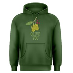 Green Olive You Men s Pullover Hoodie by FunnySaying