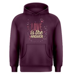 Purple Love Is The Answer Men s Pullover Hoodie