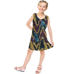 Painted Waves                              Kid s Tunic Dress by LalyLauraFLM