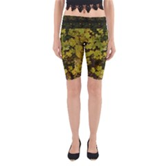 Vermont Early Spring Leaves Yoga Cropped Leggings