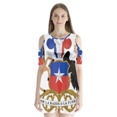 Coat Of Arms Of Chile Shoulder Cutout Velvet  One Piece