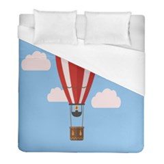 Air Ballon Blue Sky Cloud Duvet Cover (full/ Double Size) by Jojostore
