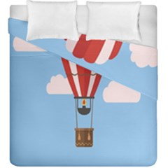 Air Ballon Blue Sky Cloud Duvet Cover Double Side (king Size)