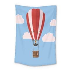 Air Ballon Blue Sky Cloud Small Tapestry