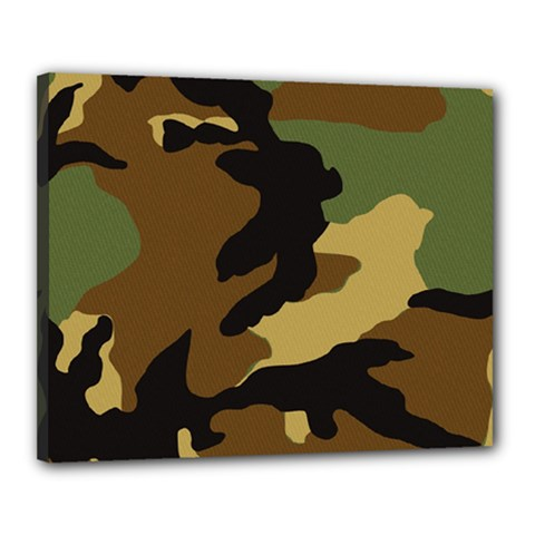 Army Camouflage Canvas 20  X 16