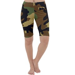 Army Camouflage Cropped Leggings