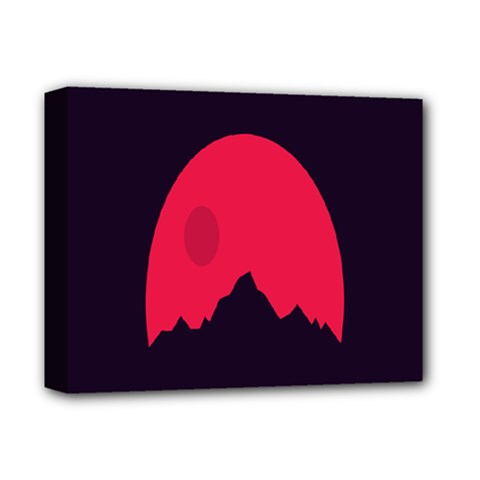 Awesome Photos Collection Minimalist Moon Night Red Sun Deluxe Canvas 14  X 11  by Jojostore