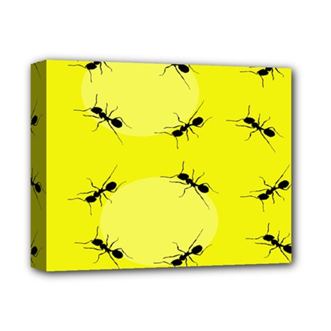 Ant Yellow Circle Deluxe Canvas 14  X 11  by Jojostore