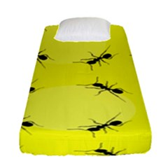 Ant Yellow Circle Fitted Sheet (single Size)
