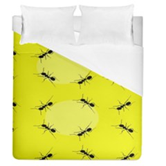 Ant Yellow Circle Duvet Cover (queen Size)