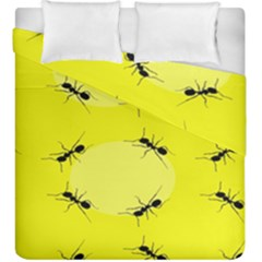 Ant Yellow Circle Duvet Cover Double Side (king Size)