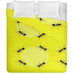 Ant Yellow Circle Duvet Cover Double Side (california King Size) by Jojostore