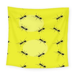 Ant Yellow Circle Square Tapestry (large)