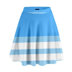 Blue Horizon Graphic Simplified Version High Waist Skirt