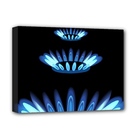 Blue Flame Deluxe Canvas 16  X 12   by Jojostore