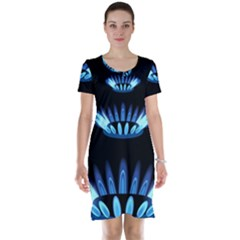 Blue Flame Short Sleeve Nightdress